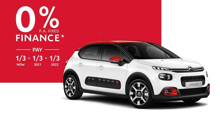 Citroën C3 0% p.a. Fixed Finance Offer*