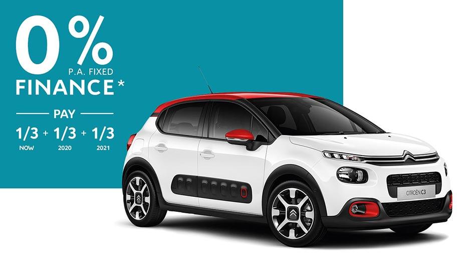 Citroën C3 0% p.a. Fixed Finance Offer