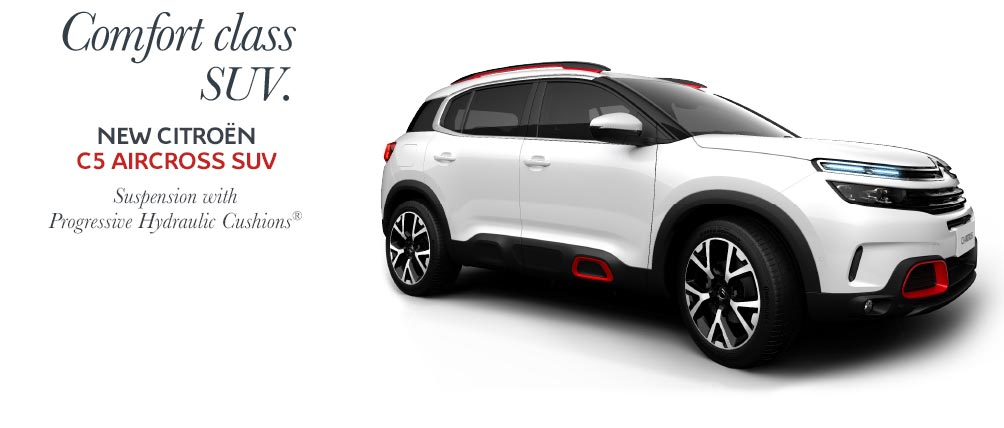 New Citroën C5 Aircross SUV. The Comfort Class SUV