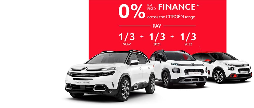 Citroën Finance Offer Across The New Car and SUV Range