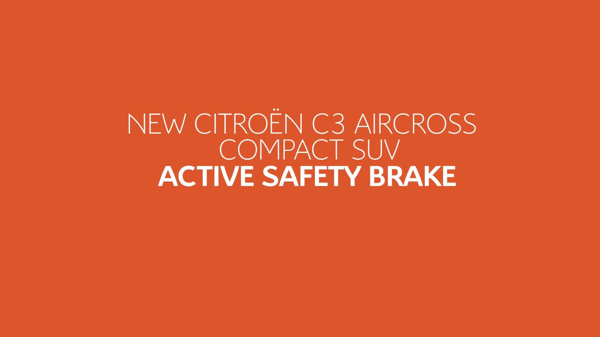Citroën C3 Aircross SUV Tutorial Videos - Active Safety Brake