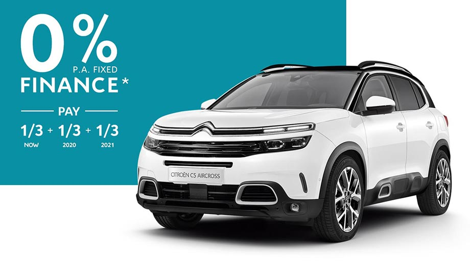 Citroën C5 Aircross SUV with 0% p.a. Fixed Finance Offer