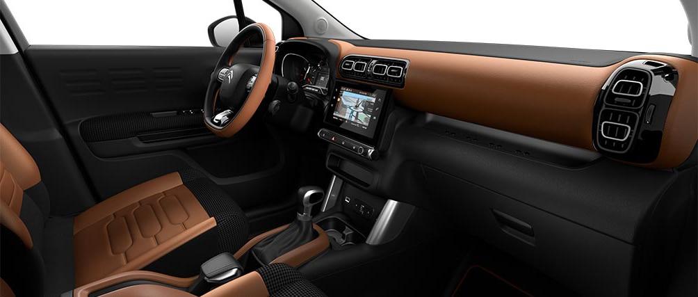Салон в новом кроссовере Citroën C3 Aircross