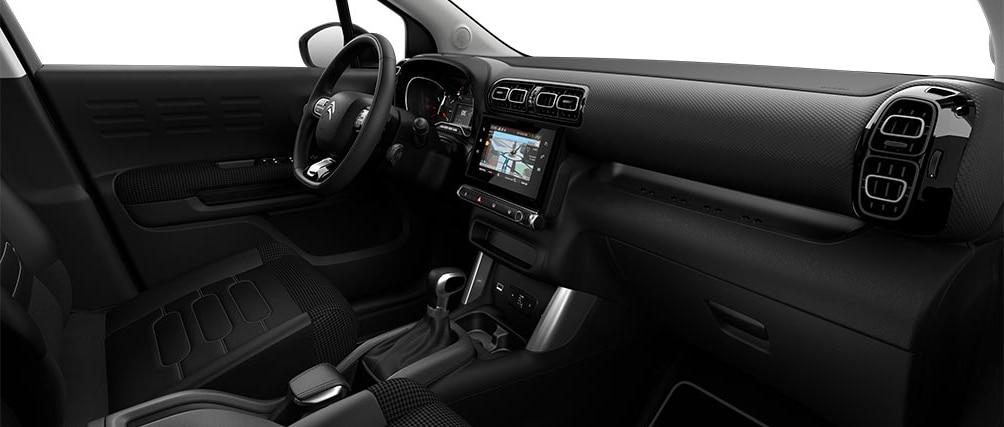 Отделка салона в новом кроссовере Citroën C3 Aircross