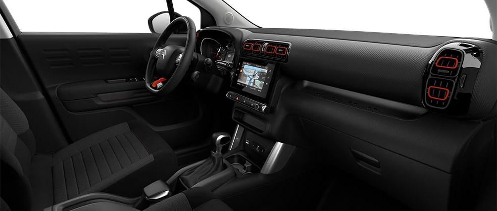 Отделка салона в кроссовере Citroën C3 Aircross